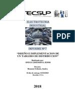 Informe Nº7 .Diseño e Implementacion de Un Tablero de Distribucion