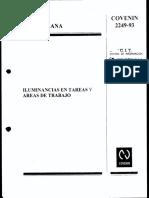 Iluminancia Areas Trabajo COVENIN 2249 93.Pag-50