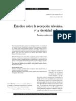Estudios Sobre La Recepción Televisiva y La Identidad Cultural Nilda Jacks Brasil