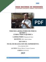 3° Informe de FISICO QUIMICA