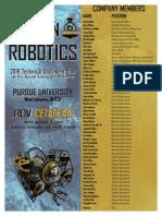 Purdue University Proven Robotics Technical Documentation 2018