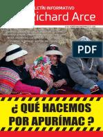 Boletín Informativo N° 2 del congresista Richard Arce
