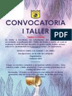 Convocatoria I Taller