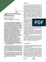 Characteristics of Application Software Maintenance