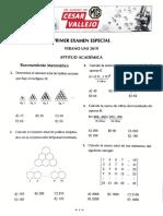 Primer Examen Especial [Verano UNI 2019]