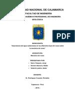 COMPORTAMIENTO HIDROGEOLÓGICO EN LAS ROCAS