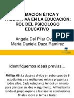 Presentación Etica Del Psicologo Educativo