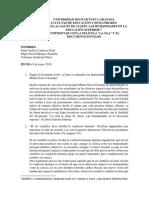 """Taller Documento y Película """"La Ola"""" Cátedra"""