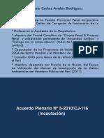 Acuerdo Plenario 05-2010