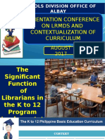 Function od a librarian