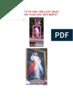 Thư Góp ý Về Việc Chúa Xác Nhận Chọn Việt Nam Làm Dân Riêng Gốc In