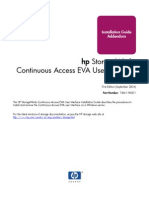 Continuous Access EVA User Interface