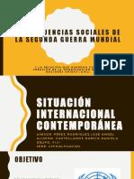 Consecuencias Sociales de La Segunda Guerra Mundial y La ONU