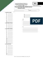 AP Answer Sheet