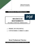Mec. de Mantenimiento - Curricula Nueva