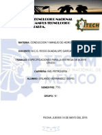 Especificaciones Para Entrega de Aceite Crudo-1