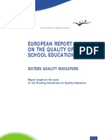 European Report Qality School Education