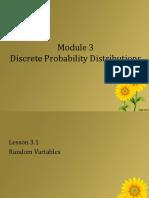 MODULE 7 Discrete Probability Distributions