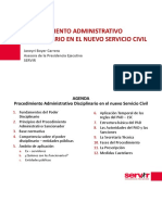 El Procedimiento Administrativo Disciplinario en El Nuevo Servicio Civil Ago16
