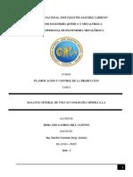 Balance General de La Compañia Minera Volcan