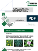 Introducción e Historia de La Farmacognosia