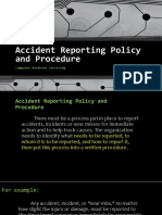 Accident Reporting Policy and Procedure