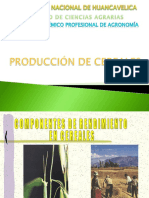 1. Producción de Cereales