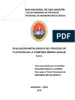 Proceso de Flotacion Compania Minera Sonaje