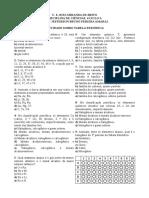 Exercício Tabela Periodica