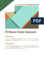 Mission Vision Proposal