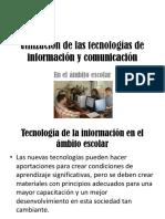 Utilización de Las Tecnologías de Información