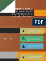 Factores Geográficos Como La Altitud, Latitud,