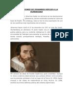 Aportaciones de Johannes Kepler a La Humanidad