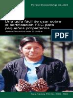 Una guía fácil de usar sobre la certificación FSC para pequeños propietarios
