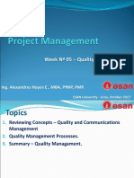 PMIT - Week Nª 05 - Quality Management