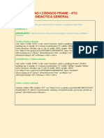 Unidad i Códigos Frame -Grupo 3