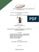 Comparacion de Los Sistemas Juridicos a Traves de Un Cuadro Descripptiivo