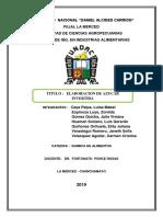 Informe 6- Elaboracion de Azucar Invertida