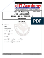Jee Advanced Paper-1 Solution