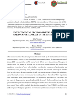 Environmental Decision-making Through Adjudicatory Appeals in the United States