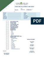 Concrete Pre-Placement Checklist Backup