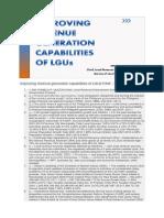 Improving Revenue Generation Capabilities of LGUs PAM