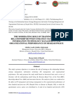 The Moderating Role of Training on the Relationship Between Strategy Management, Information Technology Management and Organizational Performance of Sharjah Police