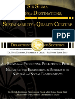 Six Sigma Origins-Sustainability-Quality Culture