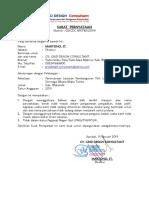 Surat Pernyataan Tomia