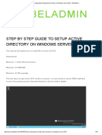 Step by Step Guide to Setup Active Directory on Windows Server 2012 Admin