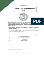 Automatic Load Management