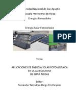 Aplicaciones de Energía Solar Fotovoltaica en La Agricultura