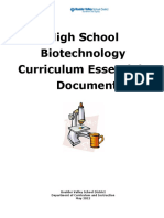 Science HS Biotechnology CED