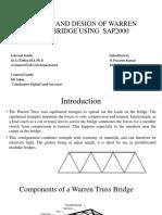 ANALYSIS AND DESIGN OF WARREN TRUSS BRIDGE USING.pptx